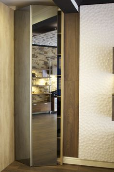 nebraska oak silver mirrors corner wardrobe aluminium champagne