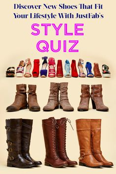 A new season ushers in a whole new set of trends — and we can't get enough of bold Shoes! Whether you prefer a classic riding boot or love the look of an edgy bootie, you can't go wrong with these finds. Discover Shoes for Spring with JustFab's Style Quiz.