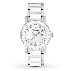 Bulova Womens Watch Diamond Dial 98P121