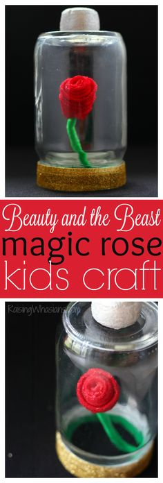 Beauty And The Beast Rose Craft + Teaser Trailer #BeOurGuest