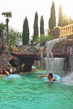 Splashing around in the Four Seasons Orlando lazy river