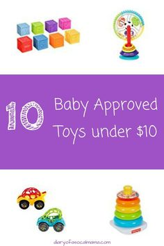 Looking for inexpensive kid toys? Check out my list of 10 baby approved toys you can get for cheap.