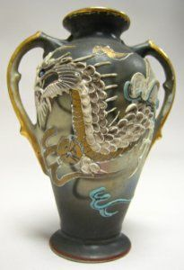 dragonware japanese occupied japan dragonware is a form of moriage Japanese Ceramics, Japanese Pottery, Japanese Art, Satsuma Vase, Pre Raphaelite, Teapots And Cups, Pot Sets, Pottery Making, Noritake