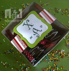 Caja para dulces Modelo : 10x3 tapa acetato