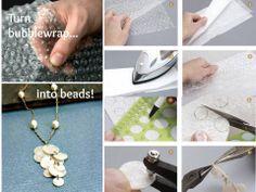 DIY Bubble Wrap Necklace