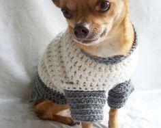 Perro suéter suéter de perro con el arco el Oxford por lukesmom6