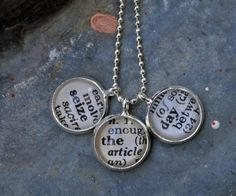 Vintage Dictionary Word Necklace Pendant SEIZE THE DAY  $28.00 #etsy #handmade