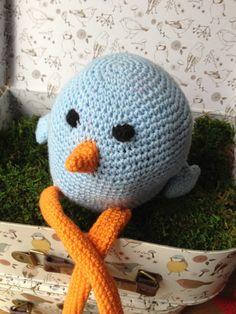 Doudou grand oiseau en crochet : Jeux, jouets par mamzellecrochet