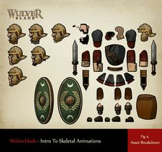 Wulverblade Intro to Skeletal Animations 2d Character, Character Design, Sprites, 2d Game Art, School Games, Game Concept, Animation, Game Assets, Game Design