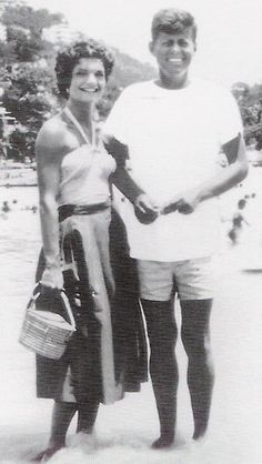 Mr. and Mrs. John F. Kennedy, honeymooning in Acapulco.