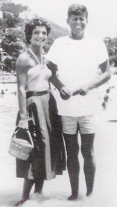 Mr. and Mrs. John F. Kennedy, honeymooning in Acapulco.