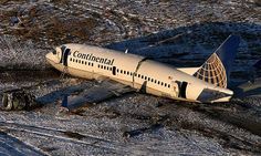 Continental Airlines Boeing 737-524 N18611 crashed while taking off from Denver-International, 20th December 2008. All passengers survived but the aircraft was gutted by fire and written off. The subsequent investigation revealed that the pilot mishandled his reaction to strong crosswinds during the take-off roll. (Photo: Preston Gannaway / Rocky Mountain News / AP)