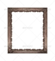 Old vintage frame isolated on white background 3