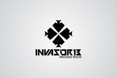 Projeto de logotipo desenvolvido para Invasor13