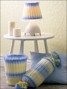Colorspun Boudoir Set free knitting pattern of the day from freepatterns.com 8/2/13