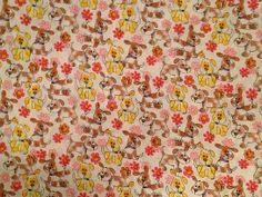 Spring puppies print fabric swatch for custom made-to-order scrub