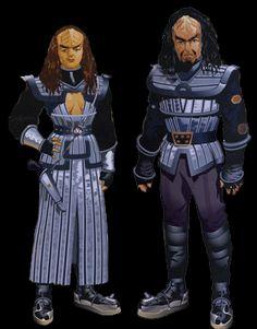Klingon male & female warrior