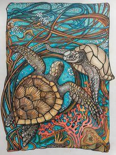 Раскраска MANIC BOTANIC @Irina Vinnik ... @zifflin #polychromos#fabercastel#fabercastelpolychromos#раскраска #manicbotanic #irinavinnik #иринавинник #coloring#zifflin#olgaprozorova Turtle Coloring Pages, Coloring Book Art, Botanical Illustration, Illustration Art, Illustrations, Dibujos Zentangle Art, Zentangles, Turtle Quilt, Turtle Painting