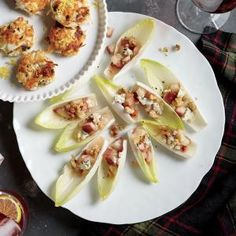 Endive Boats with Pears, Blue Cheese, and Walnuts Recipe | MyRecipes.com