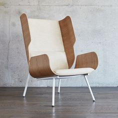 The Elk Chair by Gus Modern evokes the classic, wingback chair design and updates it with contemporary materials and bold, organic lines. Deck Furniture, City Furniture, Furniture Design, Plywood Furniture, Modern Furniture, Furniture Movers, Street Furniture, Office Furniture, Upholstery Foam