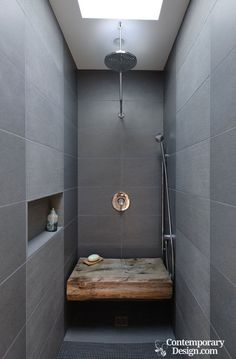 Small wet room. Create a spa-worthy power shower in even the smallest bathroom. Here we explain how. #bathroombathtubmodern