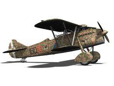 fiat cr 32 - italy airforce - 160 squadriglia 3d model obj fbx c4d lwo lw lws 12