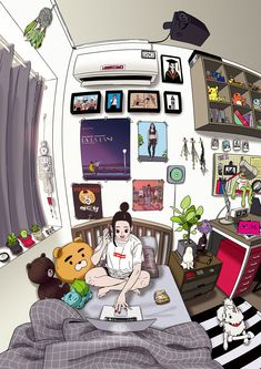 Girl's Room on Behance
