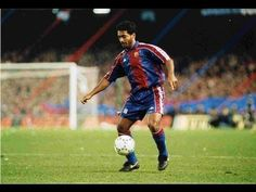 """Romario da Souza      Born in Rio de Janeiro in 1966, Romario came to FC Barcelona from PSV Eindhoven in 1993   The Brazilian striker immediately justified his transfer in the 1993-94 season, when he produced a spectacular 30 goals in the 33 league games he appeared in. His qualities were nothing short of magical, and manager Jorge Valdano was once moved to describe him as """"a cartoon player"""". He could dribble, he was fast, and he..."""