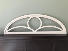 Detailed Arched Framed Window Frame Wood Cut Out Doorway Art Decor Window Above Door, Window Frame Decor, Wood Arch, Wood Doors, Arched Windows, Large Windows, Arch Mirror, Empty Wall Spaces, House Trim
