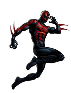 Spider Man 2099, Miguel O'hara - visit to grab an unforgettable cool 3D Super Hero T-Shirt!                                                                                                                                                                                 More