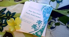 This tropical invitation from Kustom By Kris is perfect for any destination wedding. Personalize with your event details. Contact me if you need a card or favor item that is not currently designed for this wedding suite! $1.15