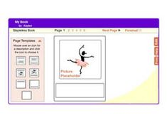 """Students will learn to create a book and publish for sharing. Click on Icon above, and then hit """"get started"""""""