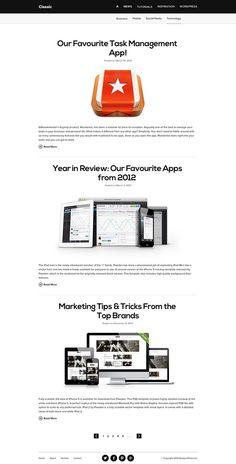 Clean & Minimal Blog Design PSD Template