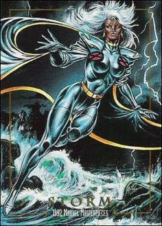 Storm SkyBox Trading Card 1992 Marvel Masterpieces 86 A Comic Book Characters, Marvel Characters, Comic Character, Comic Books Art, Comic Art, Marvel Comics, Hq Marvel, Marvel Heroes, Storm Xmen