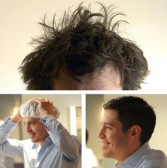 Cures Bed Head in Seconds. Reusable, Washable, Awesome. A Morninghead cap resembles a shower cap but is made of durable polyethylene and has a super absorbent material on the inside. Just add water, put it on your head and seconds later your hair is completely wet. No mess. Bed head's gone. You can then style