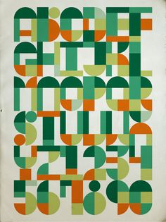 Modular alphabet inspired by the tan-gram puzzles by Antonio Rodrigues Jr