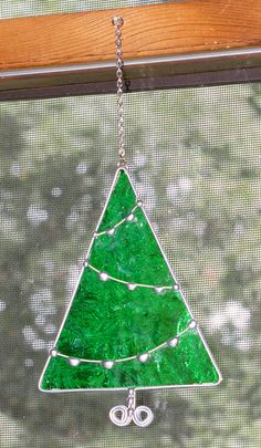 Stained+Glass+Suncatcher++Green+Christmas+Tree+by+GLASSbits,+$24.00