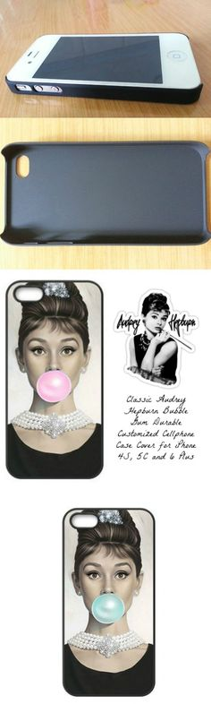 Classic Audrey Hepburn Bubble Gum Durable Customized Cellphone Case Cover for iPhone 4S, 5C and 6 Plus! Click The Image To Buy It Now or Tag Someone You Want To Buy This For.  #AudreyHepburn