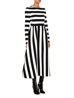 Stripe-print midi dress | Valentino | MATCHESFASHION.COM UK