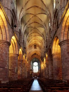 Interior of St. Magnus Cathedral, Kirkwall, Mainland, Orkney Islands by Patrick Dieudonne.