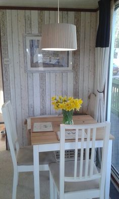 Dining room makeover in our static caravan