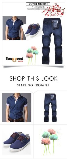 """Banggood 10 #fashion#banggod_the best #"" by almin-sturm ❤ liked on Polyvore featuring Brewster Home Fashions, men's fashion and menswear"