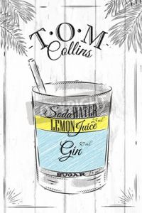 Poster Tom Collins Cocktail
