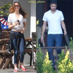 Kristen wearing one of Rob's t-shirts on May 26th, 2013. <3