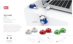 Gumbite Clippi (Set of 2) | Corporate Gifts Technology in South Africa  Cable Clips for computer cables chargers connector cables and more