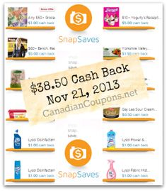Gosh, all of these #coupon apps are making saving so gosh darn sexy! SnapSaves $38.50 in Cash Back Rebates (Updated November 21, 2013)