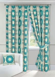 Charlotte Faux Silk Fully Lined Eyelet Curtains Matalan