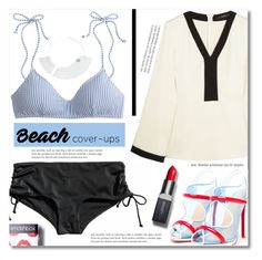 """""""The Big Cover-up"""" by dolly-valkyrie ❤ liked on Polyvore featuring J.Crew, Etro, Christian Louboutin, Smashbox, Maison Margiela and coverups"""