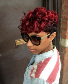 Splash of red by @artistry4gg - http://community.blackhairinformation.com/hairstyle-gallery/short-haircuts/splash-red-artistry4gg/
