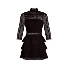 Caya Black Premium Lace Panel Tiered Mini Dress, Pretty Little Thing Thing 1, 2016 Trends, Dress Images, Lace Inset, Tiered Dress, Affordable Fashion, Party Wear, Autumn Fashion, Short Dresses